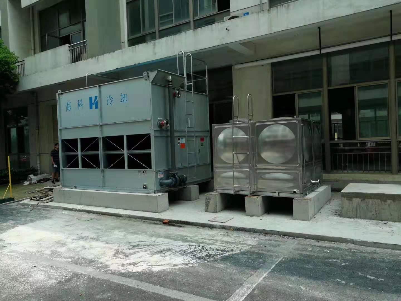反应釜用横流闭式冷却塔即将发往客户现场