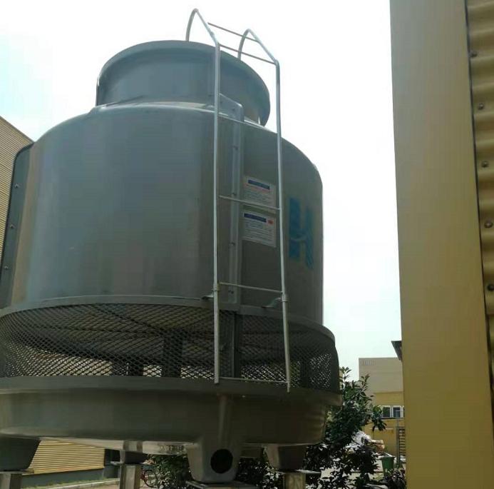 真空炉用圆形高温冷却塔调试成功