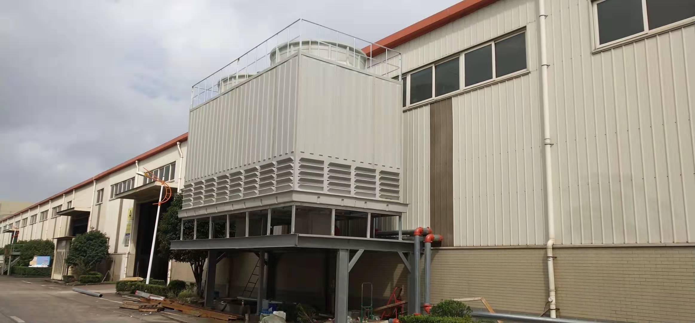 印染污水冷却塔完成定期检修工作