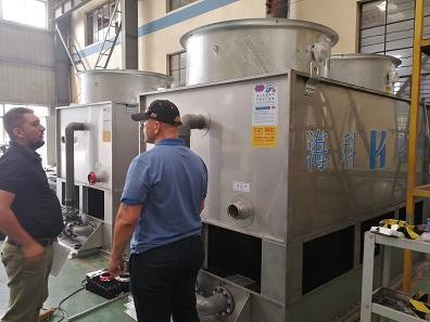 出口澳大利亚闭式冷却塔一次性通过客户验收
