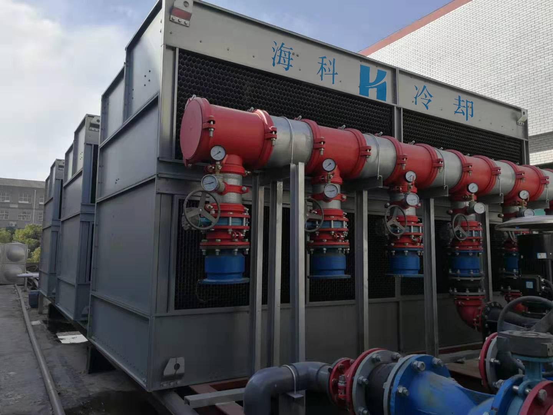 江苏海科在炎炎夏日来临前为老合作伙伴免费检修闭式冷却塔