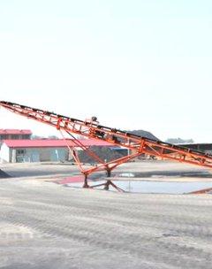 天津東麗區移動式輸送機案例