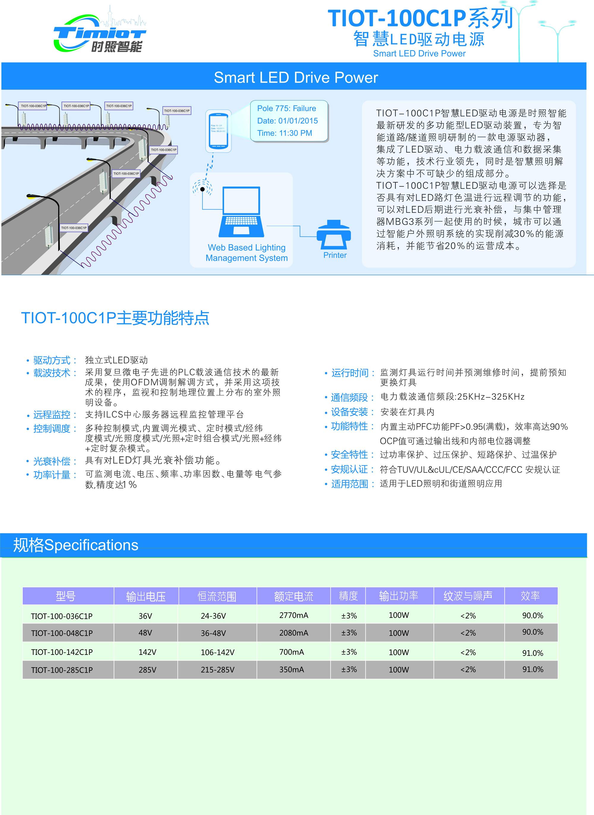 TIOT-100C1P-LED直驱灯控器
