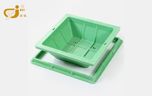 玻璃钢复合方形草坪井