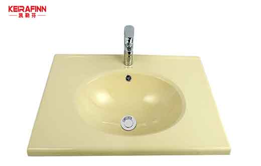 SMC椭圆形台盆米黄色