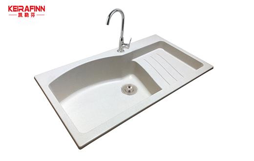 白色石英石水槽