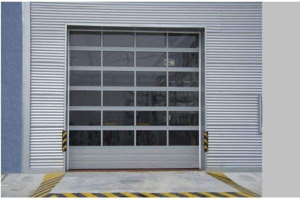 钢化玻璃工业门