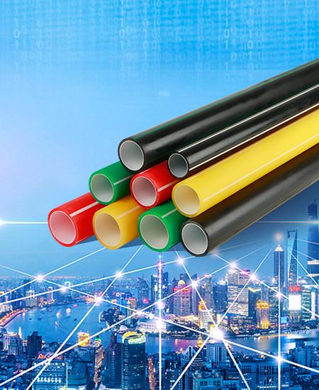 ①、高密度聚乙烯(PE)硅芯管