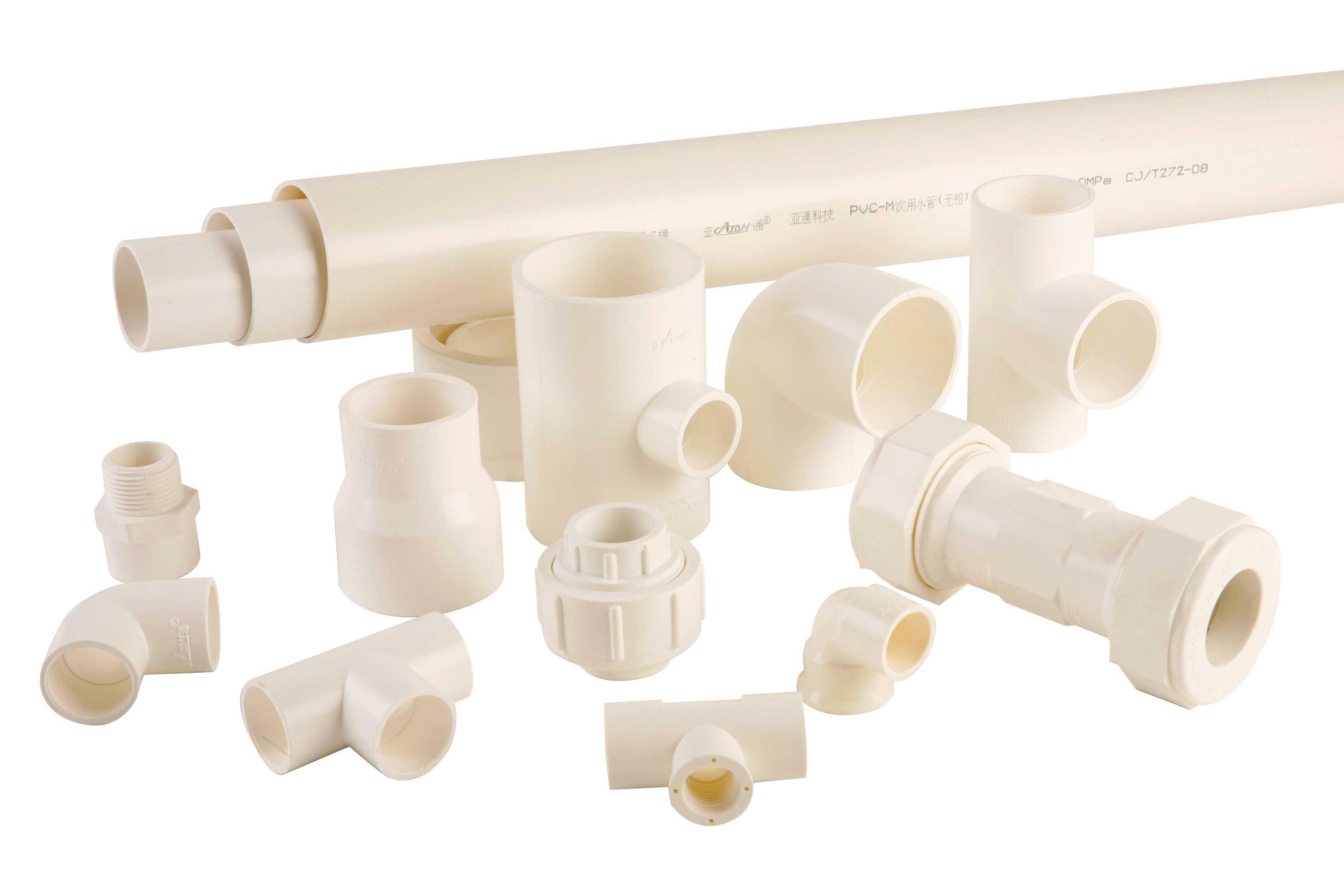 ③、给水用抗冲改性聚氯乙烯(PVC-M)管