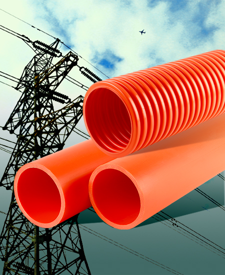 ②、高压电力电缆用改性聚丙烯(HFB)增强波纹套管