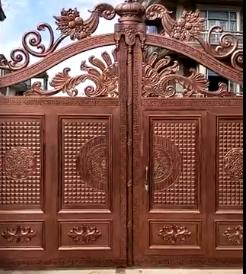 户外别墅铸铝大门
