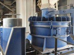 新密兴业现场转子式制砂机