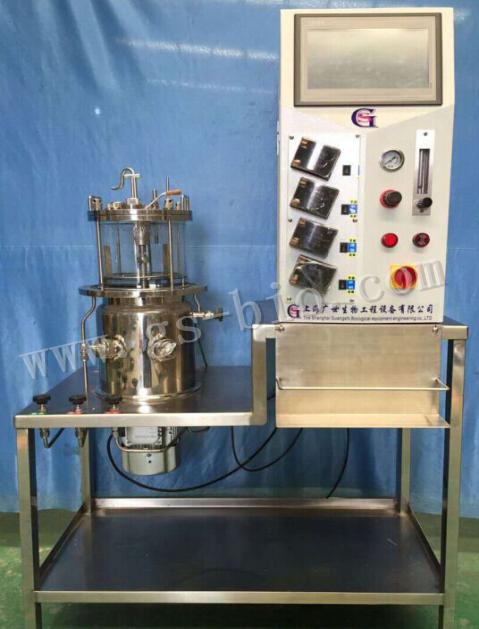 5L在位灭菌磁力搅拌玻璃发酵罐