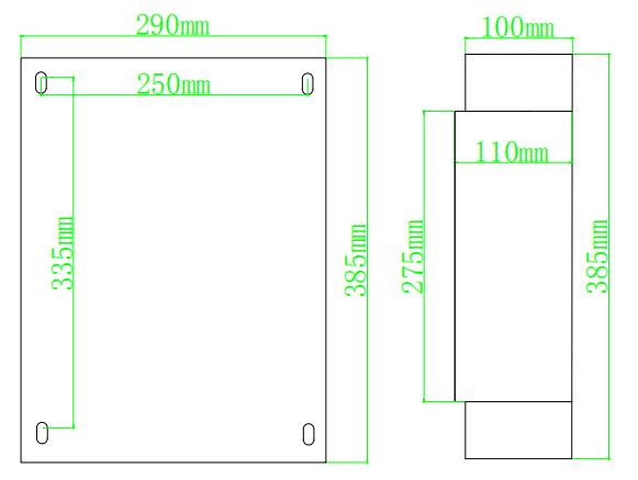12路多用户电能表尺寸图