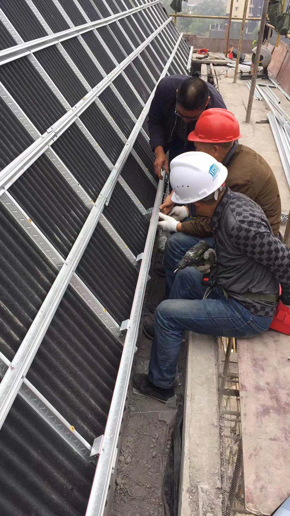 波形沥青防水板施工案例