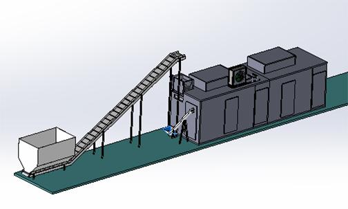 全自动带式污泥低温干化机