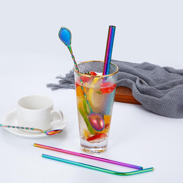 彩色餐具套装吸管