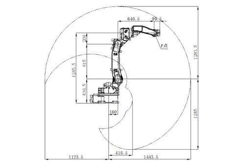 SF6-K1400焊接机器人运动范围图
