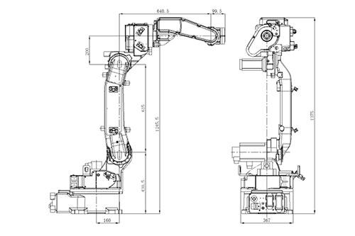SF6-C1440焊接机器人外观及安装尺寸