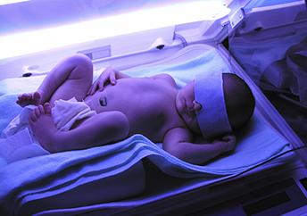 發展性護理藍光治療機