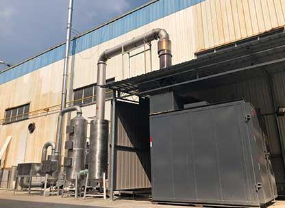 单套热洁炉及废气处理