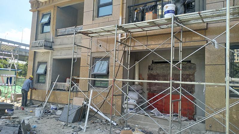 常熟雅苑三期外墙石材保温一体化板