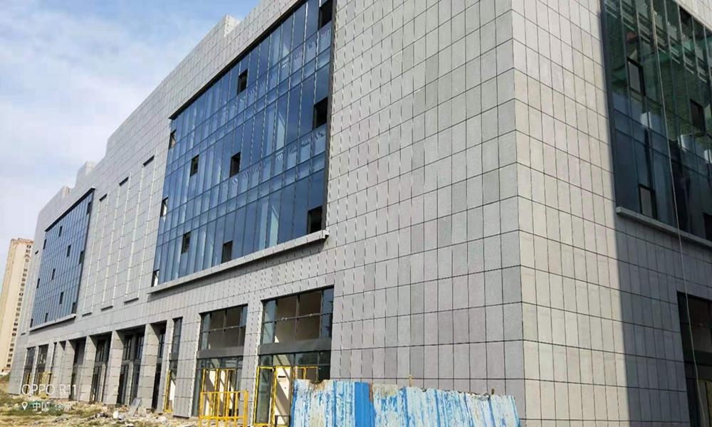 丰县紫薇花园电子商务城、综合楼外墙石材保温装饰一体化板