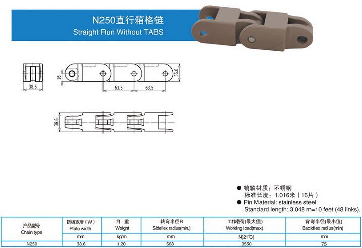 N250直行箱格鏈