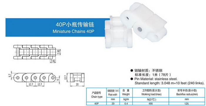 40p小瓶傳輸鏈