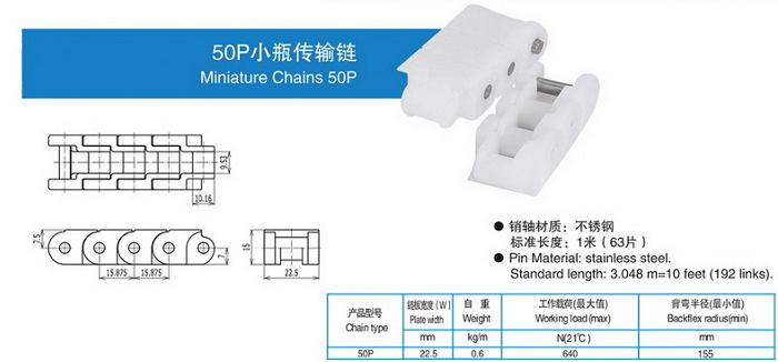 50p小瓶传输链