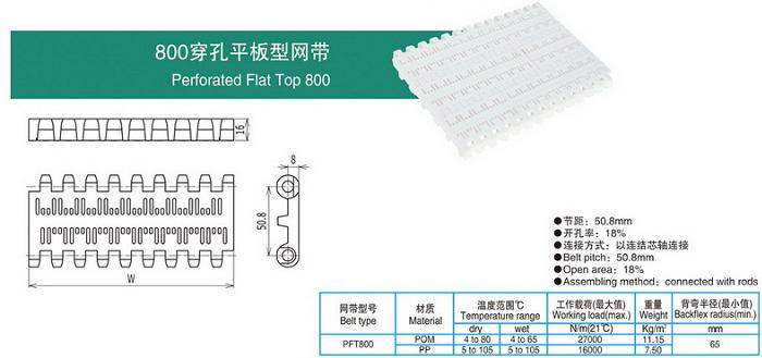 800穿孔平板型网带