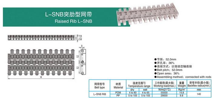 L-SNB突肋型網帶