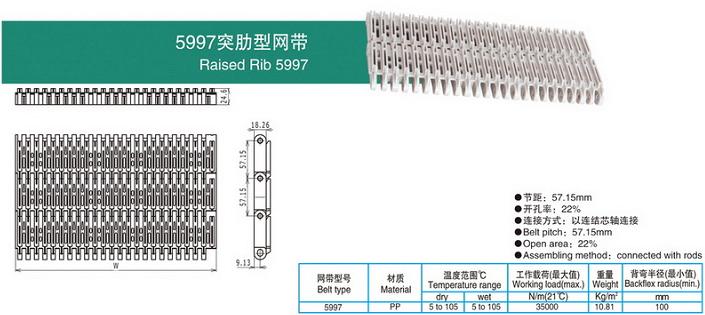 5997突肋型网带