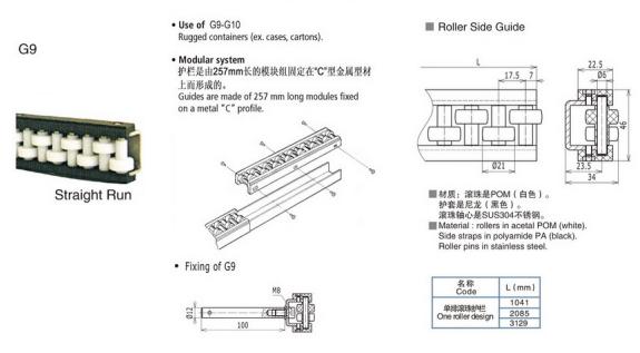 G9单排滚珠护栏