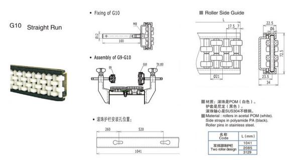 G10双排滚珠护栏