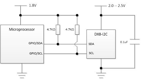 DX81C04加密芯片I2C接口连接2