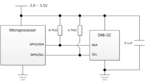 DX81C04加密芯片I2C接口连接