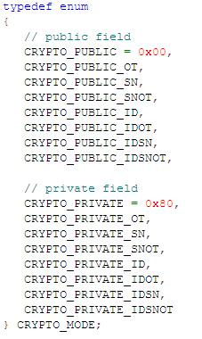 DX82的C语言的CRYPTO_MODE