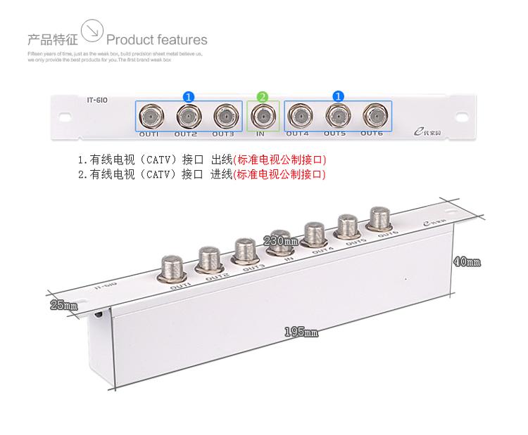 IT-610電視 模塊光纖入戶信息箱弱電配電箱家