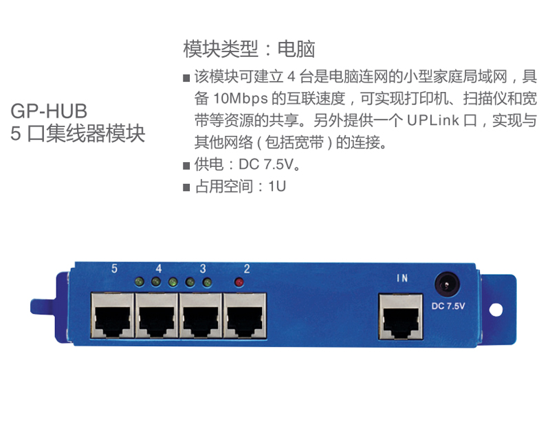 GP-HUB 5口集线器模块