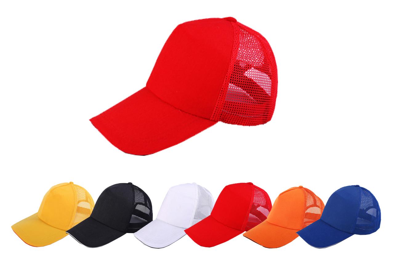 志愿者帽子_夏网眼遮阳帽_印字鸭舌帽_广告帽定制logo