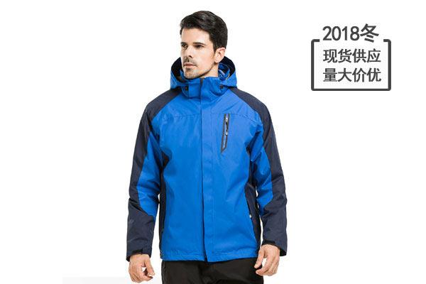 团体冲锋衣两件套三用防风防水外套定制印logo登山户外工作服