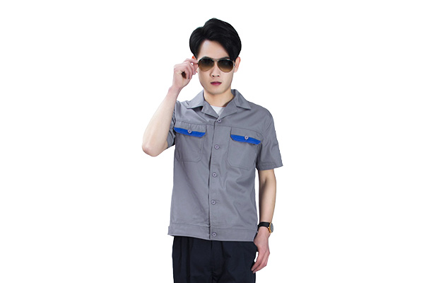 夏装透气耐磨纯棉短袖厂服定制(8305款)