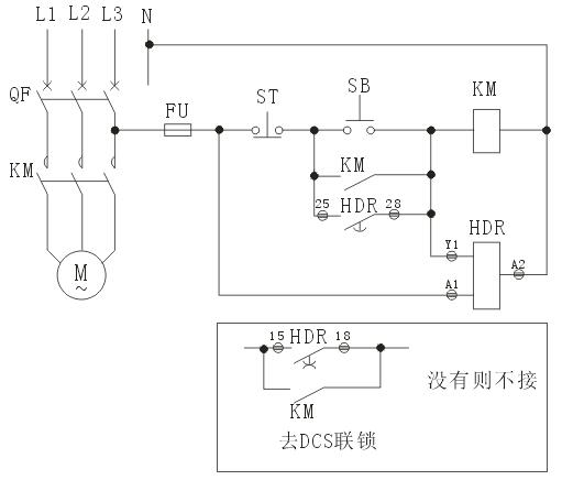 接线,直接利用自锁接点要检测接触器分合位,加装抗晃电继电器只须引电