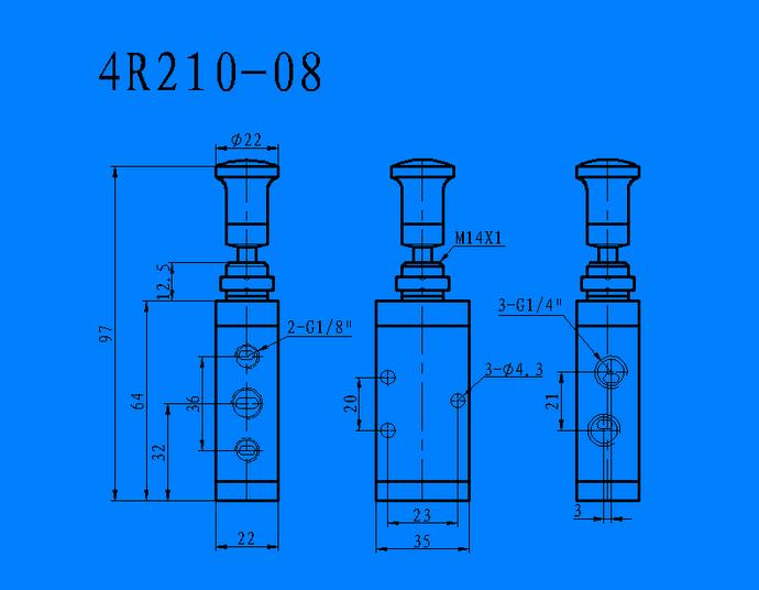 4R210-08 手拉阀