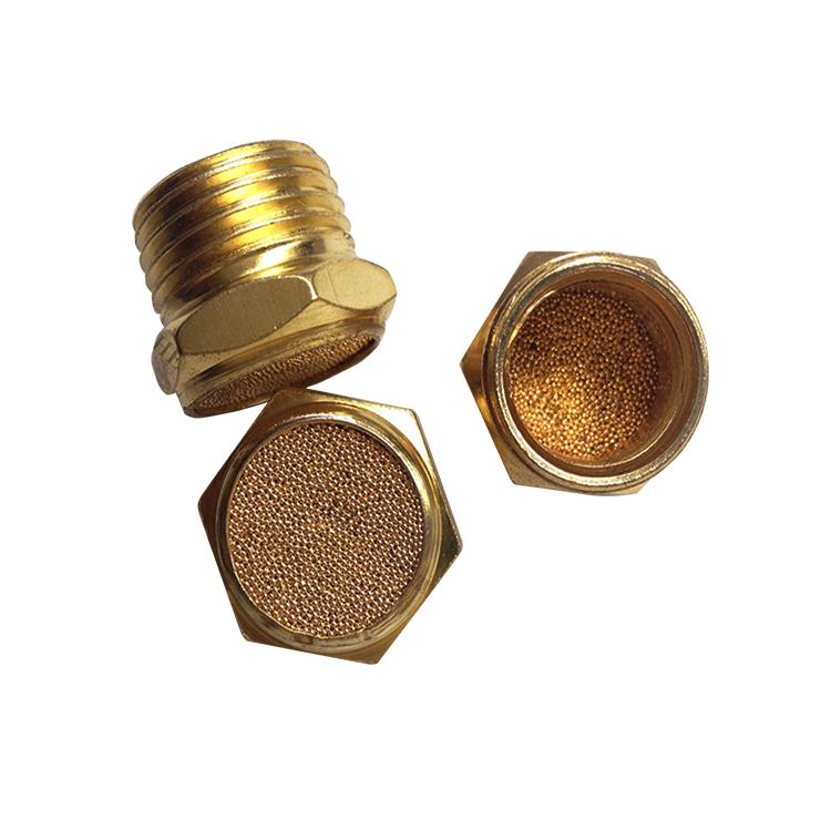 长期生产批发bslm消声器电磁阀消声器,半铜材质 螺纹尺寸紧凑质量可靠图片