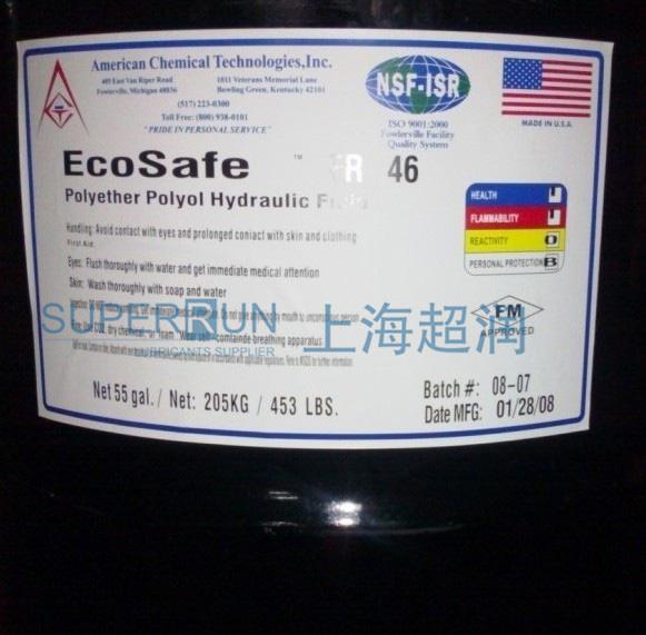美国EcoSafe FR-46、FR-68、FR-100 抗燃液压油