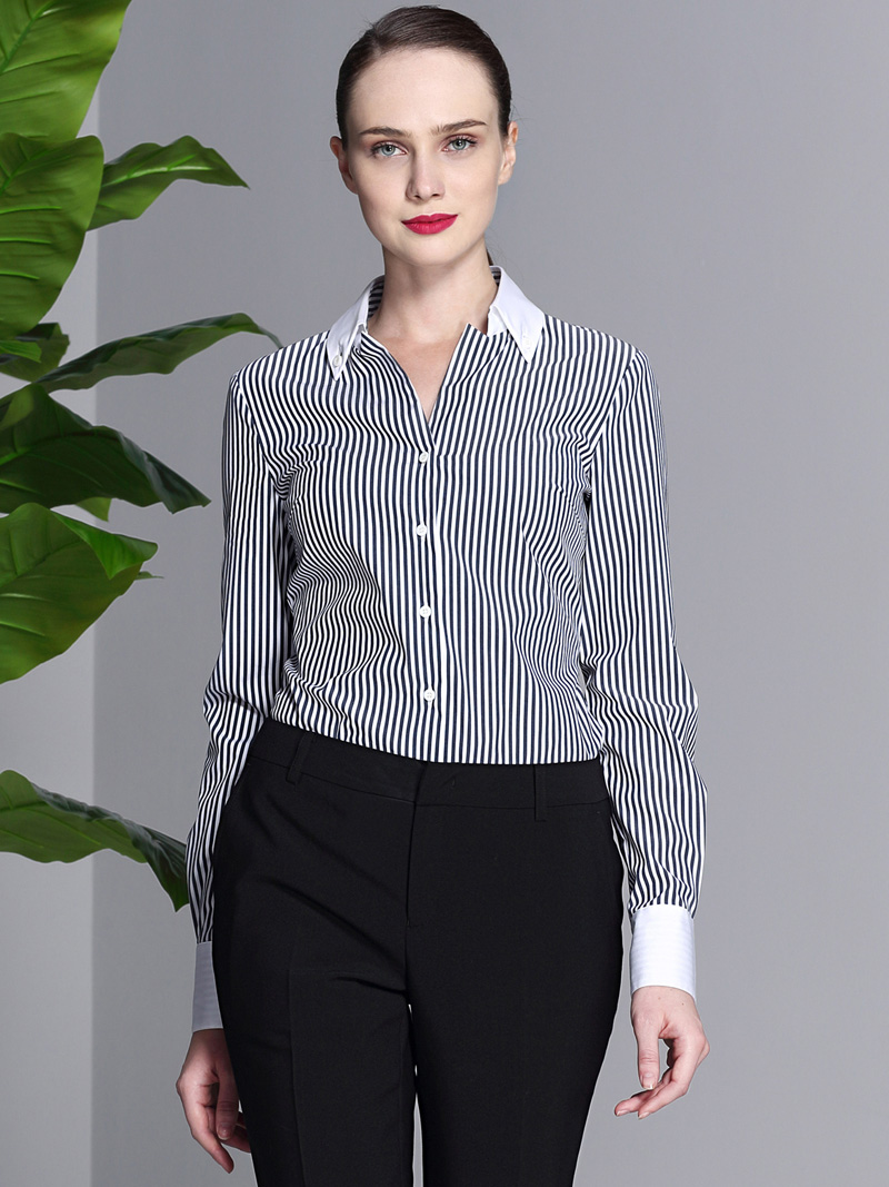 女士條紋襯衫