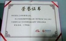 2012-2013 慧聰網塑料行業十佳 可持續發展企業獎(10強企業)