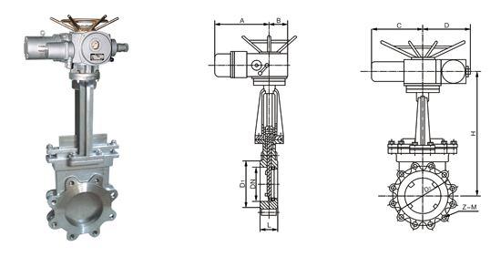 電動刀型閘閥